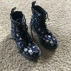Floral doc marten boots